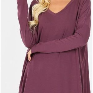 Knit top long sleeve